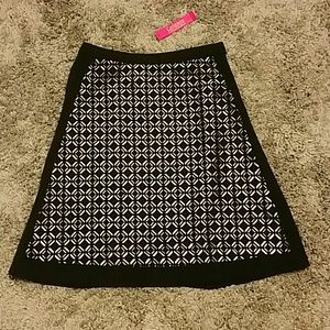 NWT Adorable A-line laser cut skirt